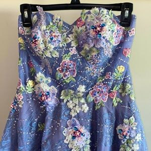 Colette Mon Cheri Periwinkle Prom Dress